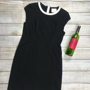 KATE SPADE LBD fitted sheath black dress slimming